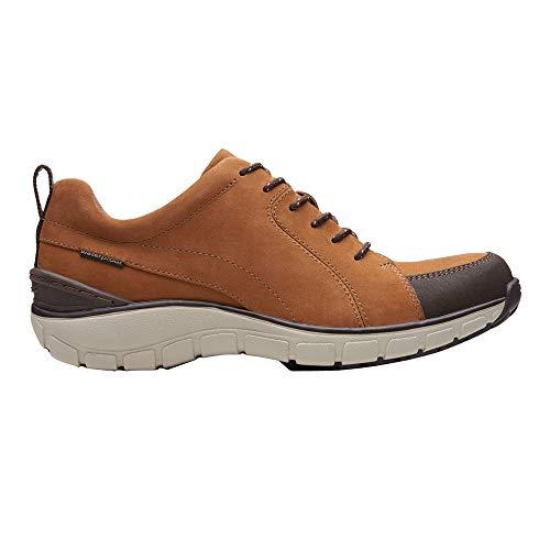Clarks - Wave Go Damen, Braun (Tan Nubuck/Leather Combi), 7 M EU (Clarks Wave Schuhe Damen)