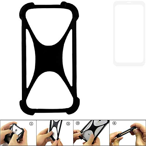 K-S-Trade Handyhülle für Vestel V3 5580 Dual-SIM Schutz Hülle Silikon Bumper Cover Case Silikoncase TPU Softcase Schutzhülle Smartphone Stoßschutz, schwarz (1x)