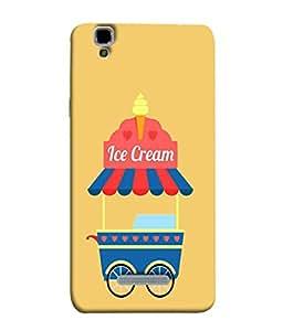 PrintVisa Designer Back Case Cover for YU Yureka :: YU Yureka AO5510 (Blue Red Trolley Cone Hearts Wheels )