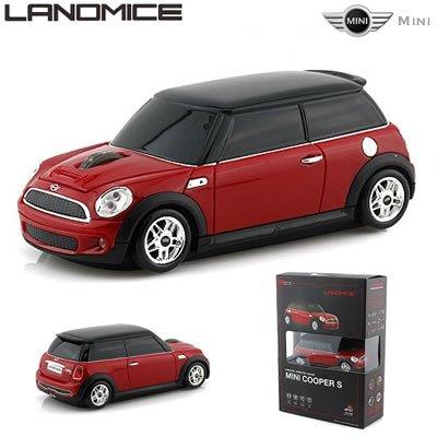 Mini Cooper Wireless Car Mouse 2.4Ghz Mini-Cops-Re Red Jp F/S