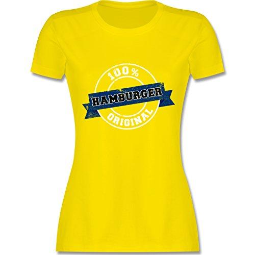 Länder - Hamburger Original - tailliertes Premium T-Shirt mit Rundhalsausschnitt für Damen Lemon Gelb