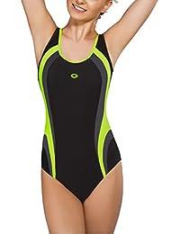 Gwinner Badeanzug Sportbadeanzug Schwimmanzug Bademode Damen einteilig sehr bequem und elastisch, mit weichen, herausnehmbaren Körbchen, aus hochwertigem Material made in EU Power