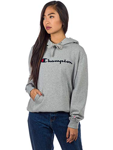 Champion Reverse Weave Damen Hooded Sweatshirt 111223 Kapuzenpullover, Grau (Oxgm Em006), Medium Hooded Damen-pullover