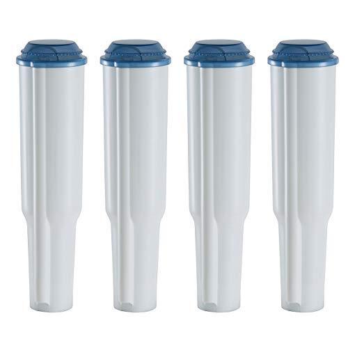 UNIWATER 4x Wasser Filter Kartuschen (steckbar) für Jura Kaffeemaschinen (Claris weiß, Modell...