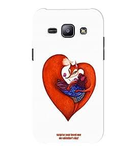 EPICCASE V-DAY Love Mobile Back Case Cover For Samsung J1 Ace (Designer Case)