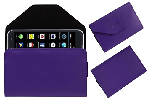 Acm Premium Pouch Case For Iball Andi 5-E7 Flip Flap Cover Holder Purple  available at amazon for Rs.359