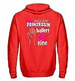 Hochwertiger Zip-Hoodie - Einhorn Shirt · Einhörner · Geschenk für Unicorn Fans · Motiv: Prinzessin ballert dir eine