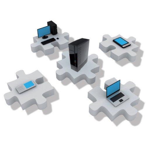 MEDION MD 86517 A835 1TB externe NAS Festplatte Netzwerk DLNA-Server FTP iTunes-Server ° FTP-Server ° DLNA-Server ° Samba
