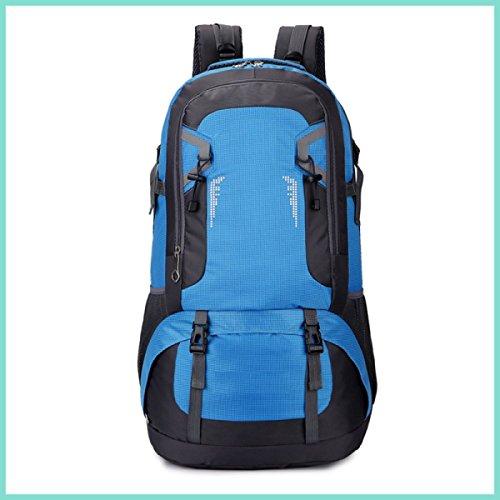LQABW Outdoor-Freizeit 40L60L Schulter Wasserdichte Große Kapazitäts-Reisen Mountaineering Oxford Tuch Breath Klettern Rucksack Tasche Blue