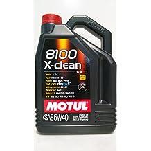 Motul 8100 X-clean C3- Aceite de motor 5W40, 5 L, 1