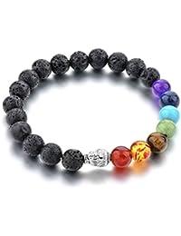 Healing Accessories Certified Natural Stones & 7 Chakra Reiki/Yoga Positive Energy Buddha Beads Stylish Bracelet...