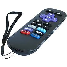 Nettech - Mando a distancia de repuesto para reproductores Roku (compatible con Roku 1, Roku 2, Roku 3 -Hd, Lt, Xs, Xd-; no compatible con Roku Stick, Roku Tv o Mlk247 Tv)
