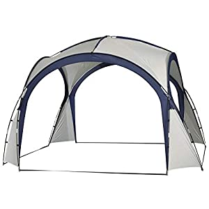 outsunny 2.5 x 2.5m gazebo outdoor marquee tent garden sun shelter patio spire arc pavilion camp sun shade
