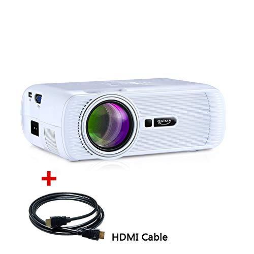 Beamer, Video Beamer Projektor Multimedia Unterstützung PC Laptop Projektor Xbox TV Box Ideal für 1080p Heimkino Theater Unterhaltung Spiele und Versammlungen, 1 Jahr Garantie (B80-White)