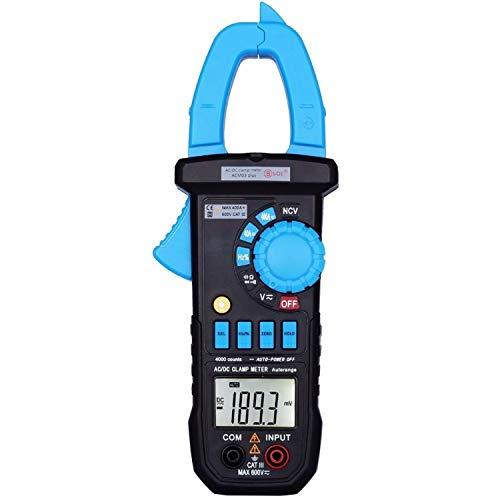 Digital Clamp Meter DC AC 400A Strom ACM03 Amperemeter Auto Voltmeter Multimeter Mit Widerstandskappe Durchgang NCV Test