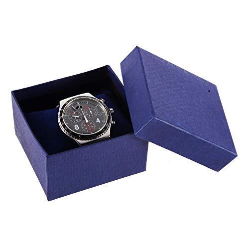 WOSHINIMA 1 stück Uhr Armband vitrine Fall schmuck Halterung aufbewahrungspapier Box mit Schaum pad (Vitrine Uhrenarmband)