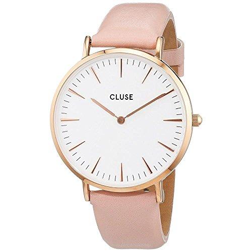 Cluse Reloj Analógico de Cuarzo para Mujer con Correa de Cuero – CL18014