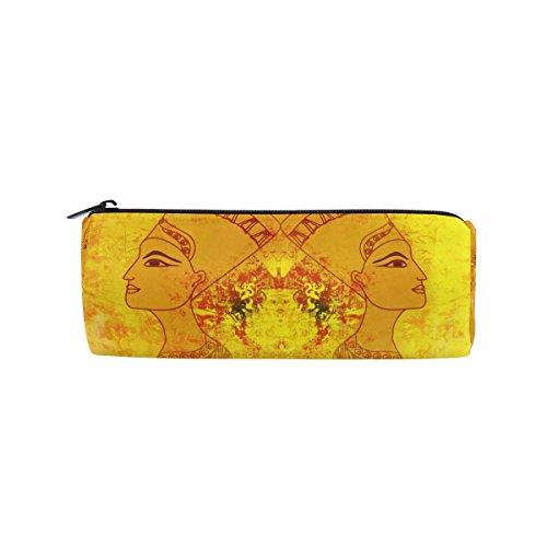 coosun Ägyptische Königin Bleistift Fall Zylinder Form Stift Stationery Tasche Bag Kosmetik Make-up Tasche (Ägyptische Baumwolle Spielzeug Tasche)