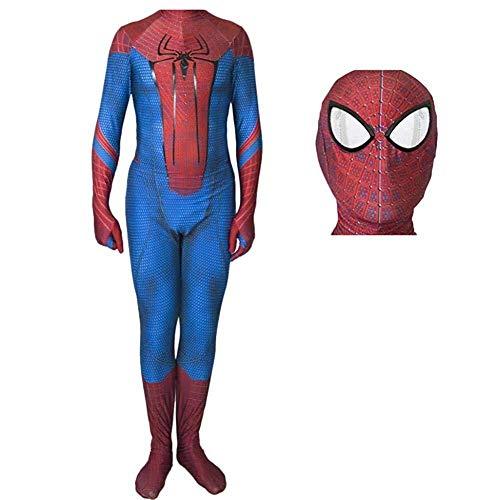 YIWANGO Cosplay Spider-Man Kostüm Kostüm Body Spandex Overalls Kostüm Kinder Erwachsene Halloween Maskerade Superheld Kostüm,Child-S (Namen Weibliche Superhelden)
