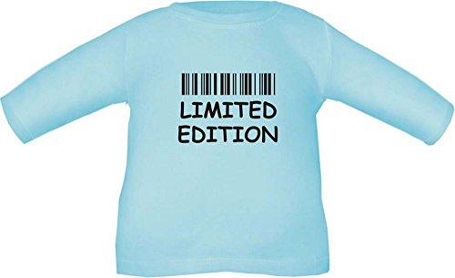 Baby T-Shirt langarm mit Druck Limited Edition / Größe 60 - 86 in 6 Farben Hellblau