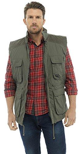 Tom Franks - Manteau sans manche - Uni - Homme Vert olive