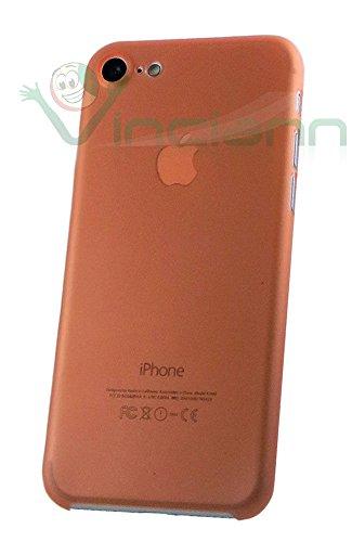 Pellicola+Custodia back cover ultra sottile 0,3 mm per iPhone 7 4.7 case rigida GIALLA arancione
