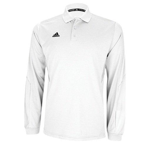 Adidas Herren ClimaLite Long Sleeve Sideline Polo XXL weiß