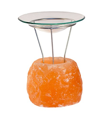 HIMALAYA SALT DREAMS - Salzkristall Aromalampe PETITE Rock, inklusive Glasschale und Metallhalterung