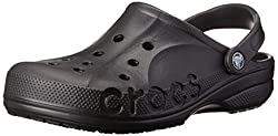 Crocs Unisex Black White Sole Leather Slip-on - M10W12