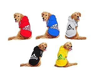 Doqi adidog Large Dog Warm Hoodies Coat Clothes Sweater Pet Jumpsuit Puppy T-Shirt Warm Autumn Winter Jackets Costume