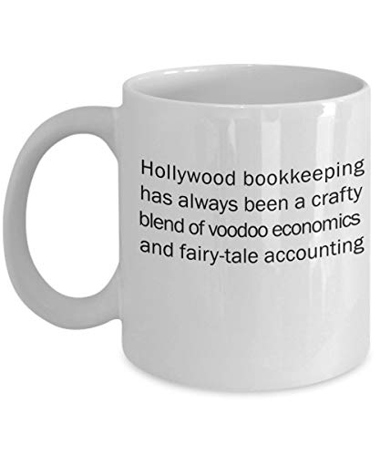 Hollywood bookkeeping has always been a crafty blend of voodoo economics and fairy-tale accounting 11 oz Coffee Mug - A Bookkeeper Ceramic Cup Gif