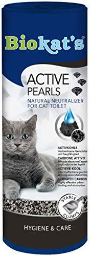 Biokat's Active Pearls mit Aktivkohle, Streuzusatz für Geruchsbindung in der Katzentoilette, Verlängert Nutzung der üblichen Katzenstreu, 1 Dose (1 x 700 ml) -