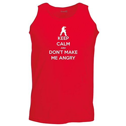 Brand88 - Keep Calm and Don't Make Me Angry , Unisex Athletic Weste Rot