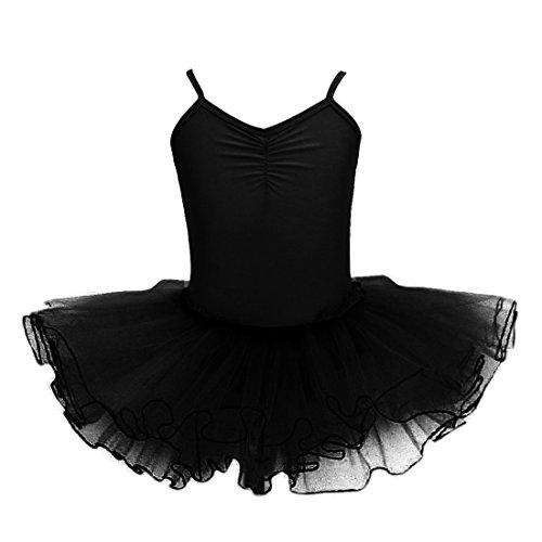 0b0fff03e Baile de Ballet Jersey Camiseta de Niña Maillot Traje de Ballet Leotardo  Princess Girls Vestido de