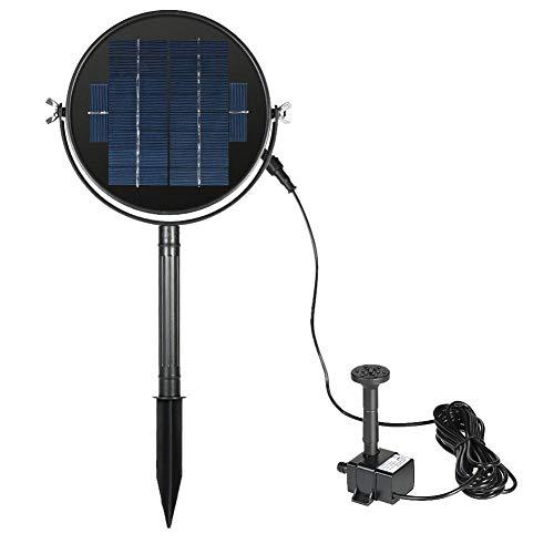 Tensión de la bomba: 12 V. Altura máxima del pulverizador: aprox. 120 cm. Solarpanel-Spannung:9V Potencia del panel solar: 3 W. Tamaño del panel solar: aprox. 176 mm. Color: negro. Duración: ≥ 10.000 horas. Start:WenndiePumpeausreichend Sonnenlich...