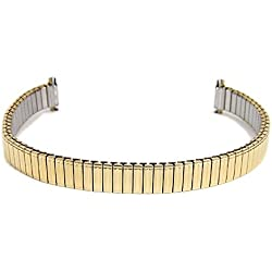 Eulit Flex Band Replacement Strap Stainless Steel IP Gold Bracelet 8mm-10mm 712114