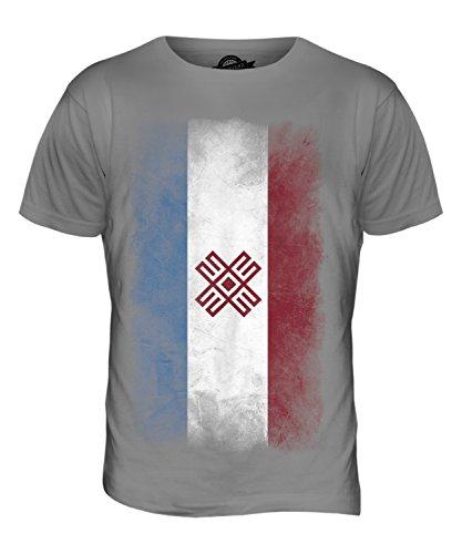 CandyMix Mari El Verblichen Flagge Herren T Shirt Hellgrau