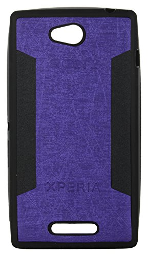 iCandy™ 2 Color Soft Lather Finish Back Cover For Sony Xperia C S39H C2304 - Purple  available at amazon for Rs.115