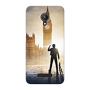 Mobile Back Cover For Micromax canvas Spark (Printed Designer Case)