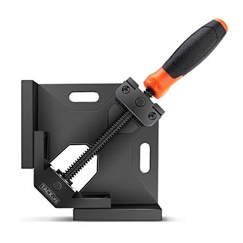 Taklife Zange, rechtwinklig, 90 Grad Winkel, Schraubstock verstellbar, Drehspindel aus Kohlenstoffstahl zum Verbinden von Holz, Metall und Glas - HAC3A