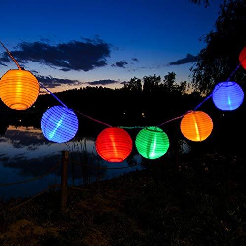 Kitlit 20LED Lichterkette Außen Lampions Laternen Batterie Bunt Beleuchtung Gartenbeleuchtung Weihnachtsbeleuchtung für Garten Terrasse Patio Hof Party Weihnachten Halloween Hochzeitsdeko