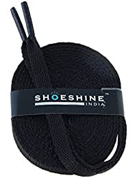 b9505150893 SHOESHINE Flat Sport Shoelace Canvas Sneaker or Casual Shoe Lace for Athletic  Shoes (3 Pairs of Same Color…