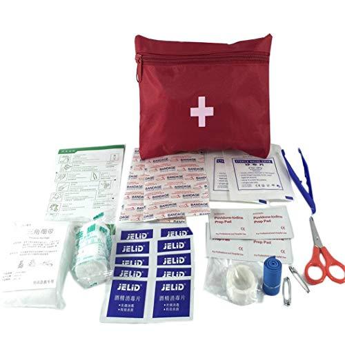 12 Piezas Botiquín de Primeros Auxilios de artículos,  Survival Tools Mini Box Kit Bolsa Médica para Emergencias para el Coche,  Hogar,  Camping,  Caza,  Viajes,  Aire Libre o Deportes