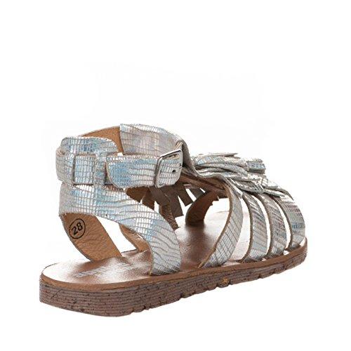 Nu-pieds fille - APPLES & PEARS - Gris argent - B007995 A - Millim Gris