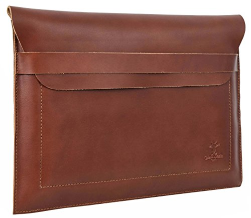 "Hülle Apple MacBook Air 13"" Gusti Leder Ledertasche Echtleder MacBook-Air Tasche 13 Zoll Business-Bag 13 inch Notebooktasche Lederetui braun MacAir13-2-20-17"