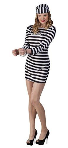 Gefangene, Häftling, Kostüm, Karneval, Fasching, Schwarz, M (Häftling Kostüm Frauen)