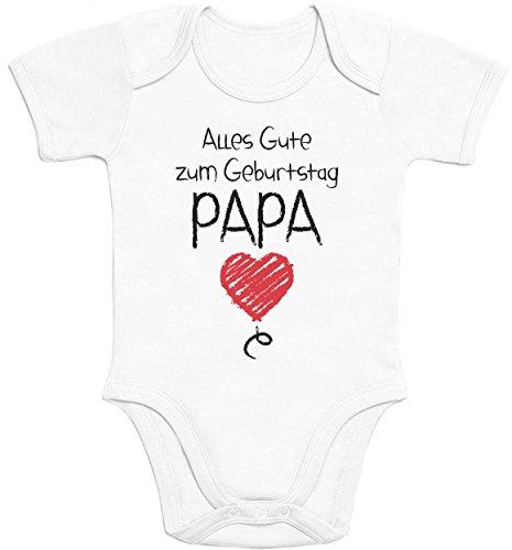 Shirtgeil Alles Gute Zum Geburtstag Papa - Vater Geschenk Baby Body Kurzarm-Body Newborn Weiß (Jungen Geschenke Zum Geburtstag Alter 3)