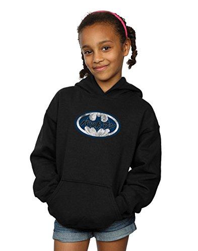 DC Comics Girls Batman Japanese Logo White Hoodie