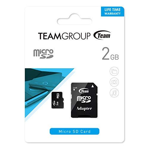 Team Group Micro-SD-Speicherkarte 2GB mit SD-Adapter 2 GB 80x (Micro-sd-speicherkarte 2 Gb)