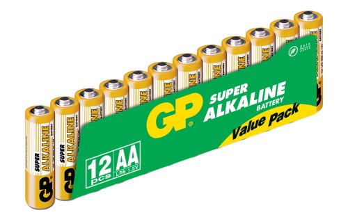 GP Batteries 15A LR6/AA 12-PACK SUPER ALKALINE, 151034 (SUPER ALKALINE) 12 Pack Aa Alkaline-batterien